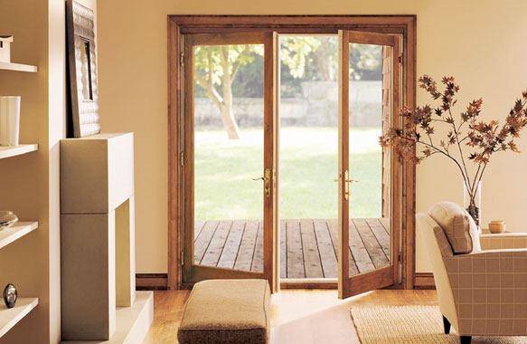 Sliding french doors exterior popular home decorating for Marvin ultimate swinging screen door